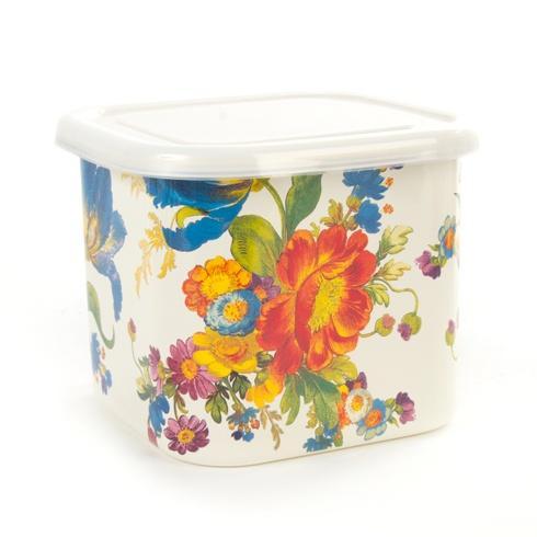MacKenzie-Childs  Flower Market  Flower Market Deep Medium Squarage Bowl - White $38.00