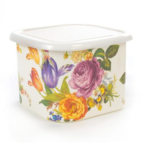 MacKenzie-Childs  Flower Market  Flower Market Deep Large Squarage Bowl - White $40.00