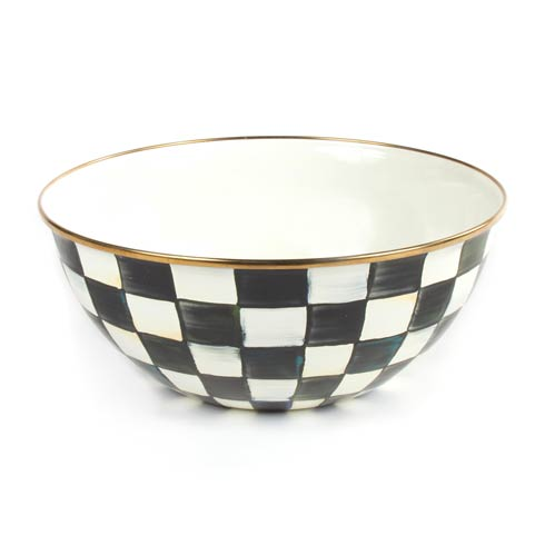 MacKenzie-Childs Courtly Check Tabletop Enamel Everyday Bowl - Large $75.00