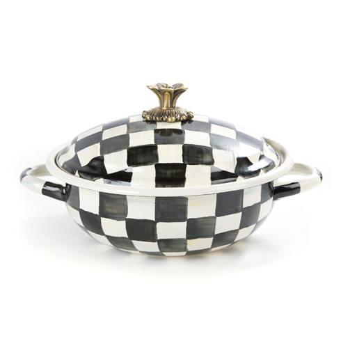 MacKenzie-Childs Courtly Check Kitchen Enamel Casserbole - Medium $135.00