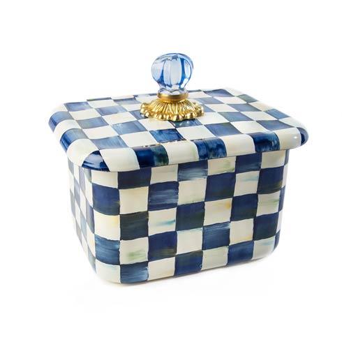 MacKenzie-Childs Royal Check Kitchen Recipe Box $105.00