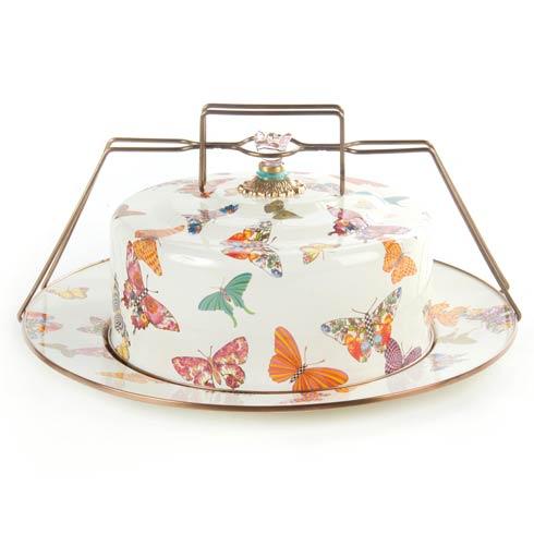 $175.00 Butterfly Garden Cake Carrier - White