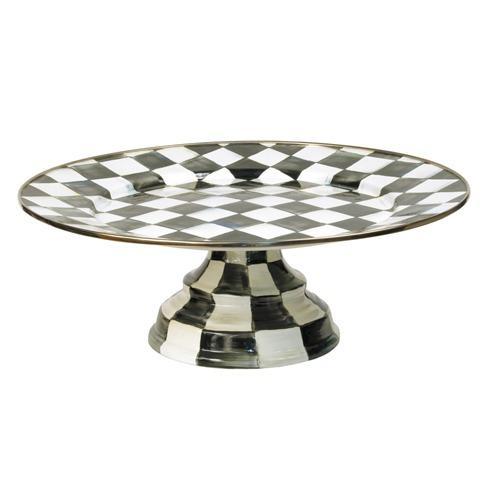MacKenzie-Childs Courtly Check Tabletop Enamel Pedestal Platter - Large $128.00