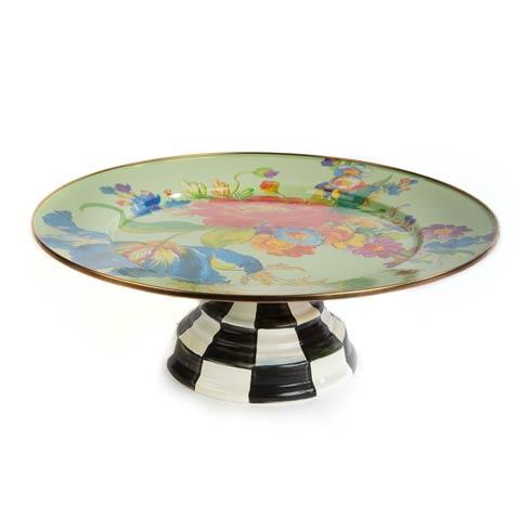 $120.00 Pedestal Platter - Green
