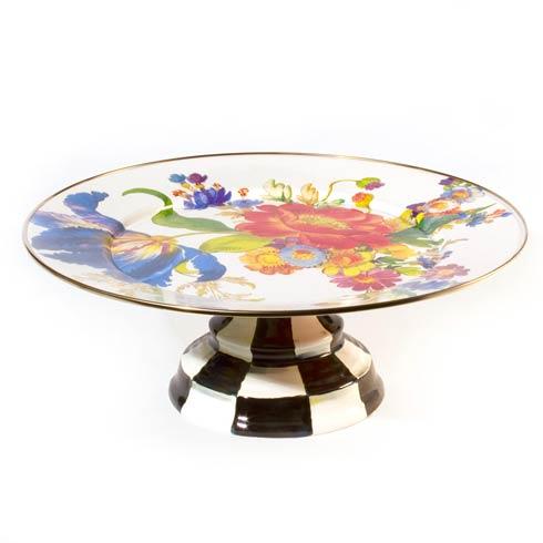 $120.00 Pedestal Platter - White