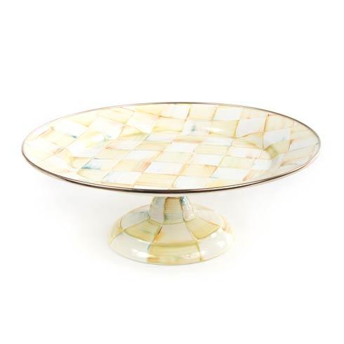 MacKenzie-Childs  Parchment Check Enamel Pedestal Platter - Small $78.00