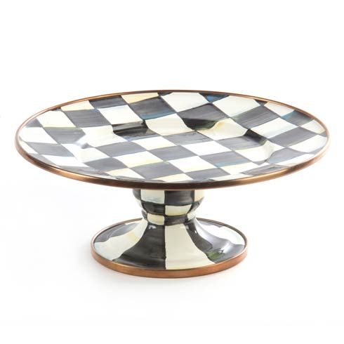 MacKenzie-Childs  Courtly Check Enamel Pedestal Platter - Mini $50.00