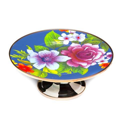 $65.00 Flower Market Mini Pedestal Platter - Lapis