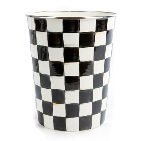 MacKenzie-Childs  Courtly Check Enamel Waste Bin $76.00