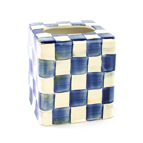 MacKenzie-Childs   Royal Check Enamel Boutique Tissue Box Cover $62.00