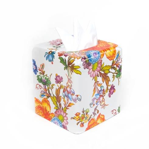 $58.00 Tissue Box Cover - White
