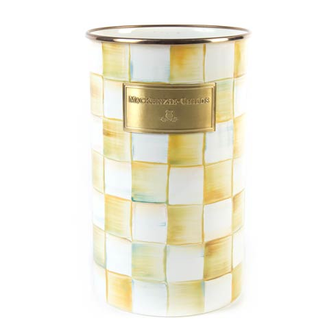MacKenzie-Childs  Parchment Check Enamel Utensil Holder $74.00