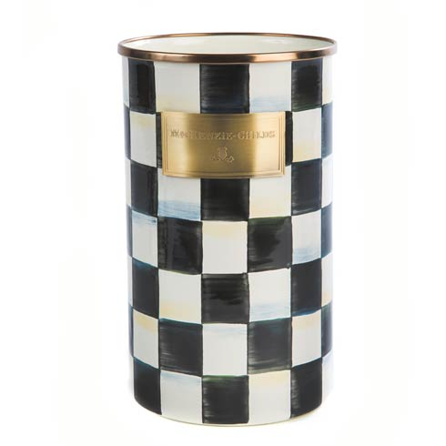 MacKenzie-Childs Courtly Check Kitchen Enamel Utensil Holder $78.00