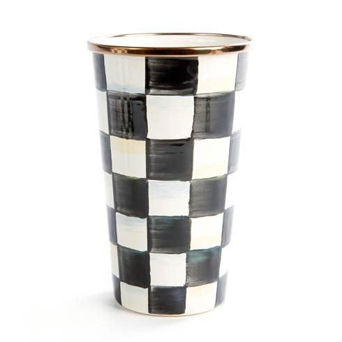 MacKenzie-Childs  Courtly Check Enamel Tumbler - 20 Ounce $42.00