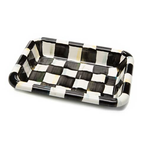 $32.00 Courtly Check Enamel Simply Soap Dish