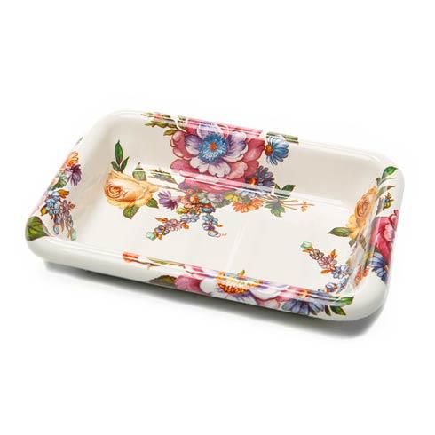 $32.00 Flower Market Enamel Simply Soap Dish
