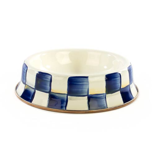 $45.00 Royal Check Cat Dish