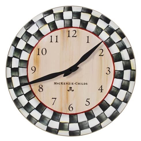 MacKenzie-Childs Courtly Check Decor Enamel Clock $78.00