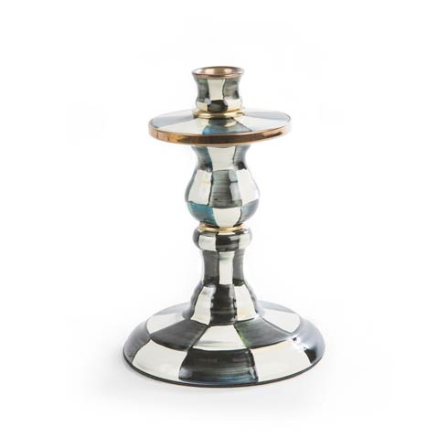 MacKenzie-Childs  Courtly Check Enamel Candlestick - Small $90.00