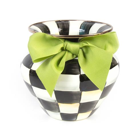 MacKenzie-Childs Courtly Check Decor Enamel Large Vase - Green Bow $100.00