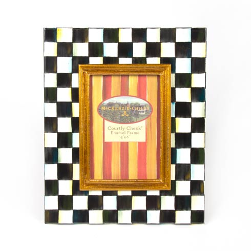 MacKenzie-Childs  Courtly Check Enamel Frame - 4 In.  X 6 In. $82.00