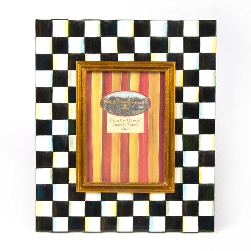 MacKenzie-Childs Courtly Check Decor Enamel Frame - 5 In.  X 7 In. $108.00