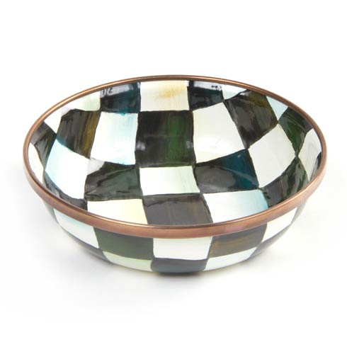 MacKenzie-Childs Courtly Check Tabletop Enamel Relish Dish $28.00