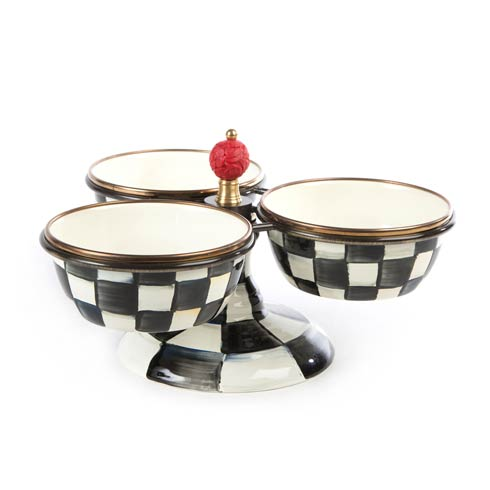 MacKenzie-Childs Courtly Check Tabletop Enamel Triplicity $258.00