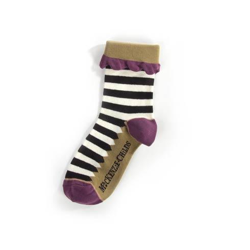 $28.00 Lady Mary Killigrew Striped Ankle Socks