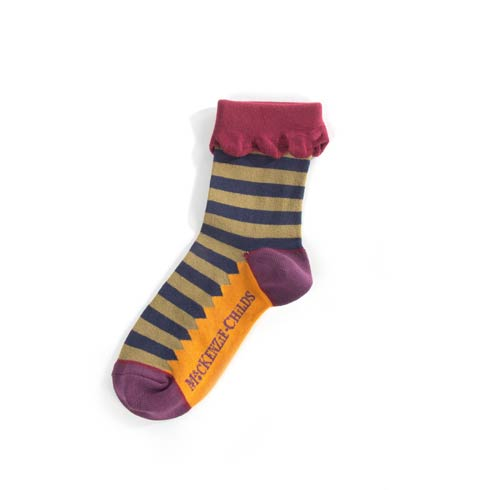 $28.00 Mary Read Striped Ankle Socks