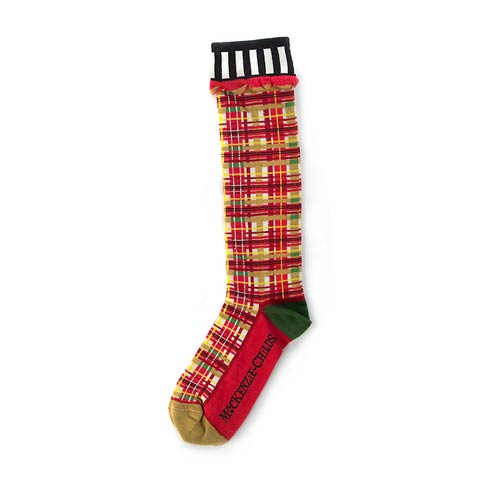 $34.00 Red Tartan Knee Socks