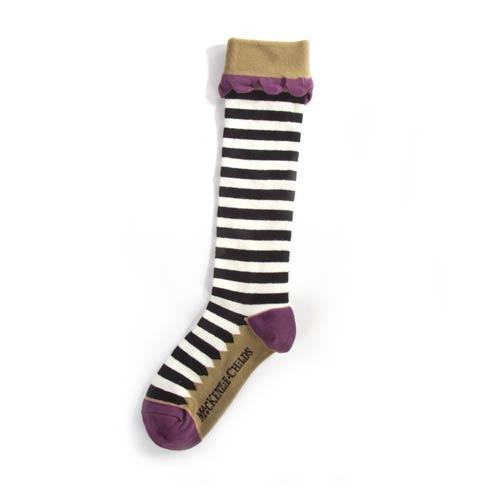 $34.00 Lady Mary Killigrew Striped Knee Socks