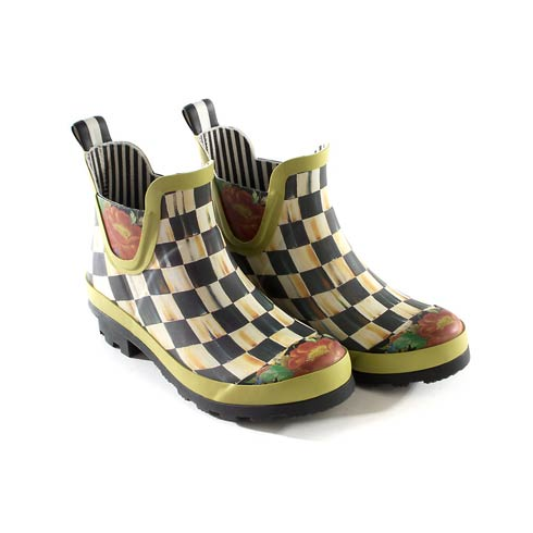 $150.00 Courtly Check Rain Boots - Short - Size 6