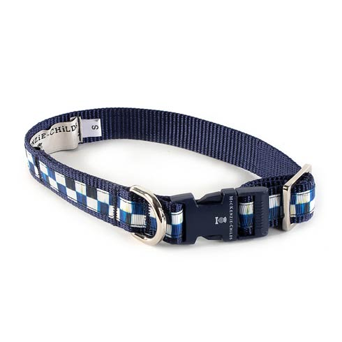 MacKenzie-Childs Royal Check Pet Collar - Small $42.00