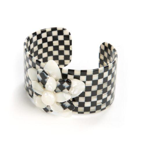 $98.00 Courtly Check Blossom Cuff - Medium