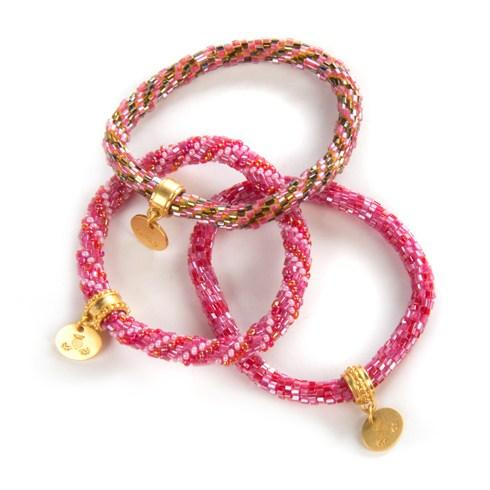 $98.00 Tulip Little Beaded Bracelets - Set of 3