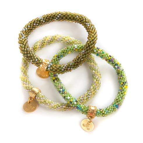 $98.00 Grass Little Beaded Bracelets - Set of 3