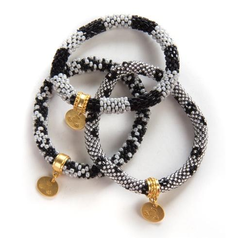 $98.00 Black Little Beaded Bracelets - Set of 3
