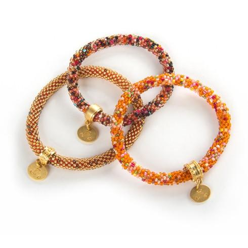 $98.00 Sunset Little Beaded Bracelets - Set of 3