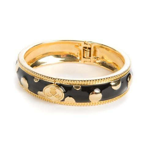 $100.00 Black Polka Dot Bangle - Narrow