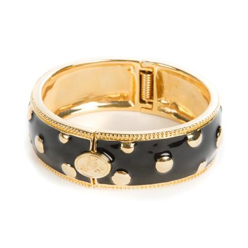 $125.00 Black Polka Dot Bangle - Medium
