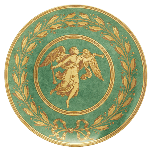 $50.00 Green Luncheon Plate