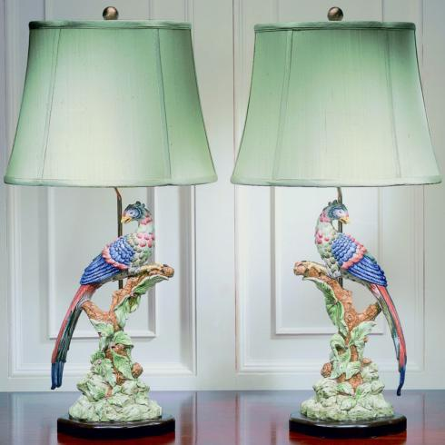 $2,015.00 Brighton Pavilion Bird Lamps, Pair