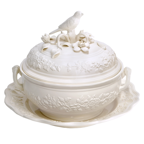$320.00 Bird Tureen And Stand, Small