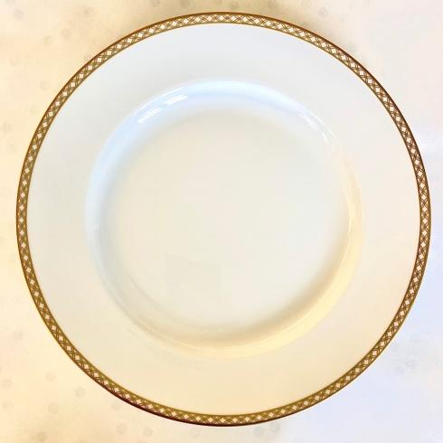 $45.00 Gold Lattice Dinner Plate
