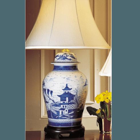 Blue Canton Ginger Jar Lamp