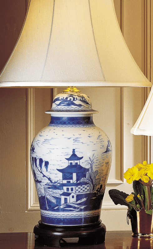 $1,450.00 Blue Canton Ginger Jar Lamp