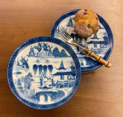Mottahedeh  Blue Canton Coupe Plate $90.00