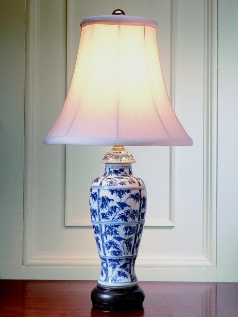 $535.00 Bamboo Covered Jar Lamp