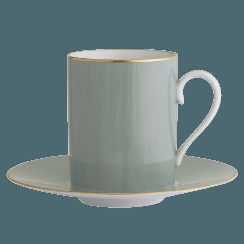 Celedon Tall Cup & Saucer